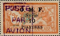 [Airmail - No. 65 & 70-71 Overprinted, type F6]