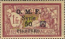 [Previous Issues Overprinted Ornament in Red or Black, Typ G7]