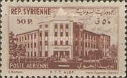 [Airmail - Port of Latakia and Central Post Office Aleppo, type JM]