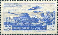 [Airmail - The 9th Anniversary of Evacuation of Foreign Troops from Syri, type KC]