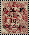 """[French Postage Stamps Surcharged & Overprinted """"O.M.F. - Syrie"""", type M]"""
