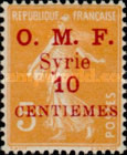 """[French Postage Stamps Surcharged & Overprinted """"O.M.F. - Syrie"""", type M1]"""