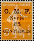 """[French Postage Stamps Surcharged & Overprinted """"O.M.F. - Syrie"""", type M2]"""
