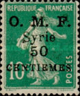 """[French Postage Stamps Surcharged & Overprinted """"O.M.F. - Syrie"""", type M3]"""