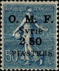 """[French Postage Stamps Surcharged & Overprinted """"O.M.F. - Syrie"""", type M4]"""