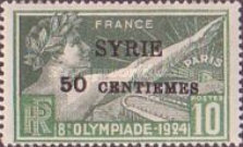 [French Olympic Games Issue of 1924 Surcharged & Overprinted