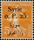 [French Postage Stamps Surcharged & Overprinted Syrie in French and Arabic, type U1]