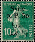 [French Postage Stamps Surcharged & Overprinted Syrie in French and Arabic, type U2]