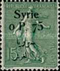[French Postage Stamps Surcharged & Overprinted Syrie in French and Arabic, type U3]