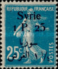 [French Postage Stamps Surcharged & Overprinted Syrie in French and Arabic, type U5]