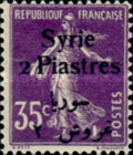 [French Postage Stamps Surcharged & Overprinted Syrie in French and Arabic, type U8]