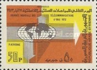 [Airmail - World Telecommunications Day, type VV1]