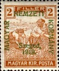 [Hungary Postage Stamps Overprinted, type D]