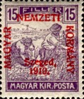 [Hungary Postage Stamps Overprinted, type D4]