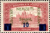 [Hungary Postage Stamps Overprinted & Surcharged, type H]