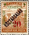 [Hungary Postage Stamp Overprinted & Surcharged, type L]