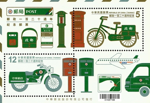 [The 120th Anniversary of the Chinese Postal Service, Typ ]