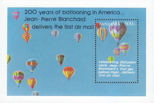 [Anniversaries and Events of Aviation - The 200th Anniversary of First Balloon Flight in America by Jean-Pierre Blanchard, Typ ]