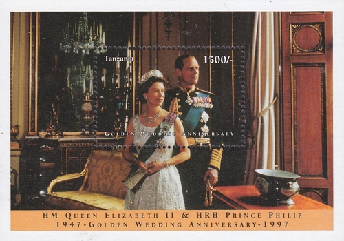 [The 50th Royal Wedding Anniversary of Queen Elizabeth II and Prince Philip, type ]