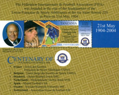 [The 100th Anniversary of FIFA, type ]