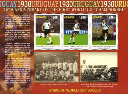 [The 75th Anniversary of First Football World Cup in Uruguay, type ]