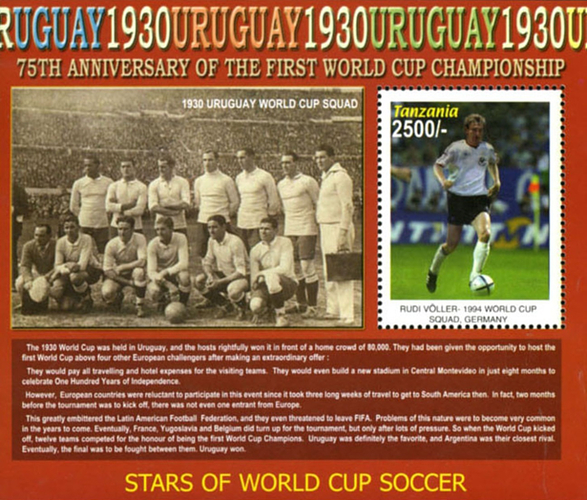 [The 75th Anniversary of the First Football World Cup - Uruguay 1930, Typ ]