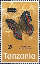 [Butterflies - Issue of 1973 Surcharged, type AW]
