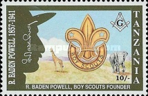 [The 50th Anniversary of the Death of Robert Baden-Powell, type AWL]