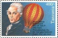 [Anniversaries and Events of Aviation - The 200th Anniversary of First Balloon Flight in America by Jean-Pierre Blanchard, Typ BOO]