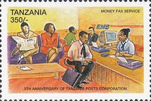 [The 5th Anniversary of Tanzania Posts Corporation, Typ DQD]