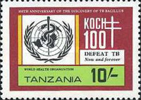 [The 100th Anniversary of Robert Koch's Discovery of Tubercle Bacillus, Typ GZ]