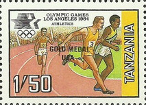 [Winners of the Olympic Games - Los Angeles, USA, Typ JE]