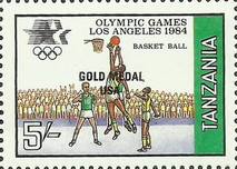 [Winners of the Olympic Games - Los Angeles, USA, Typ JF]