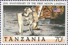 [History of Space Exploration and 20th Anniversary of First Manned Landing on Moon, Typ TX]