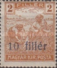 [Hungarian Stamps Surcharged, type A]
