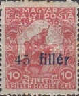 [Hungarian Stamps Surcharged, type B]