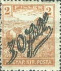 [Hungarian Stamps Surcharged, type C]