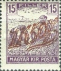 [Hungarian Stamps Surcharged, type C2]