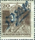 [Hungarian Stamps Surcharged, type D]