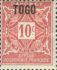 [Numeral Stamps - Dahomey Postage Stamps of 1914 Overprinted