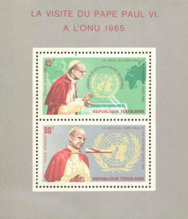 [Airmail - Visit of Pope Paul VI to the United Nations in 1965, Typ ]