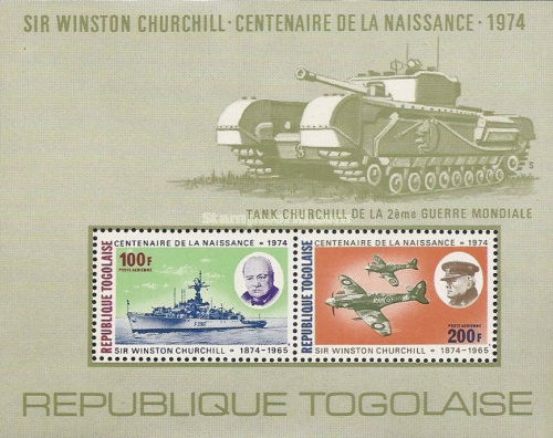 [Airmail - The 100th Anniversary of the Death of Sir Winston Churchill, 1874-1965, type ]