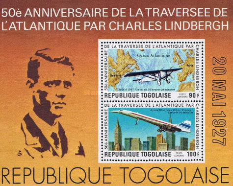 [Airmail - The 50th Anniversary of Charles Lindbergh's Transatlantic Flight, type ]