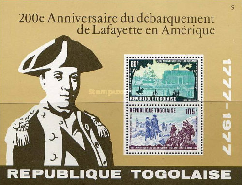 [Airmail - The 200th Anniversary of Lafayette's Arrival in America, type ]