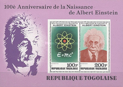 [Airmail - The 100th Anniversary of the Birth of Albert Einstein, 1879-1955, type ]