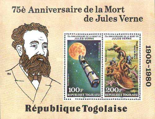 [Airmail - The 75th Anniversary of the Death of Jules Verne, 1828-1905, type ]
