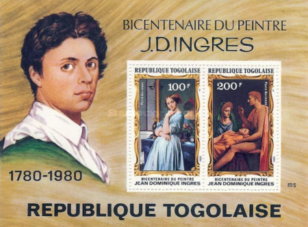 [Airmail - The 200th Anniversary of the Death of Painter Jean Auguste Dominique Ingres, 1780-1867, type ]