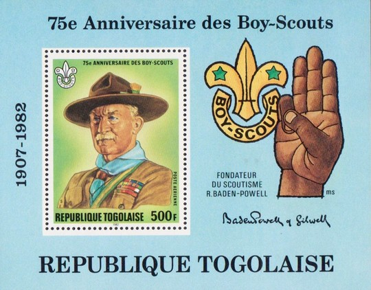 [Airmail - The 75th Anniversary of Boy Scout Movement, type ]