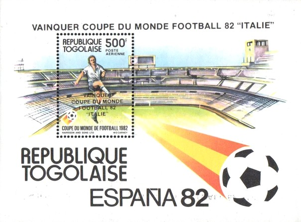 [Airmail - Football World Cup - Spain - Overprinted Results, type ]