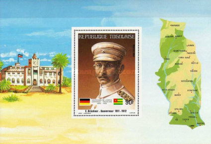 [The 100th Anniversary of Proclamation of German Protectorate, type ]